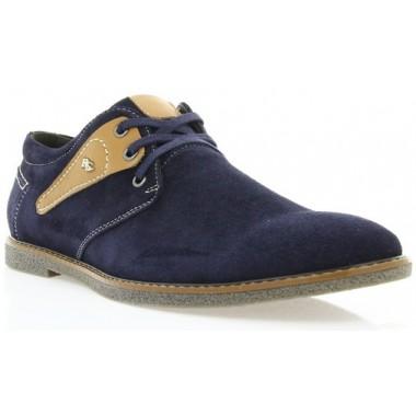 Купити Туфлі чоловічі сині/рижі, замш (1858 т.сн. Зш_рж вст) Roma style за найкращими цінами