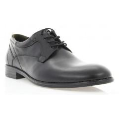 Туфли мужские черные, кожа (1859 чн. Шк_сір вст) Roma style