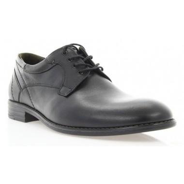 Купить Туфли мужские черные, кожа (1859 чн. Шк_сір вст) Roma style по лучшим ценам