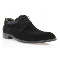 Туфли мужские черные, замша (1859 чн. Зш_сір вст) Roma style