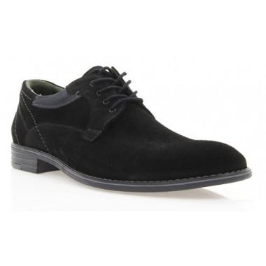 Купити Туфлі чоловічі чорні, замш (1859 чн. Зш_сір вст) Roma style за найкращими цінами