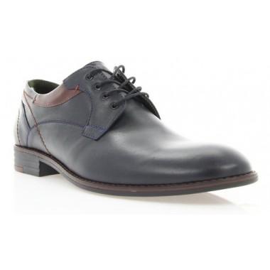 Купити Туфлі чоловічі чорні, шкіра (1859 чн. Шк_борд вст) Roma style за найкращими цінами