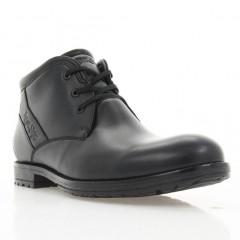 Ботинки мужские черные, кожа (1867-18 чн. Шк (шерсть)) Roma style