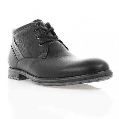 Ботинки мужские черные, кожа (1867 чн. Фл (шерсть)) Roma style