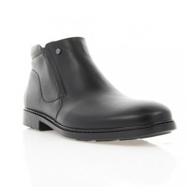 Купить Ботинки мужские черные, кожа (1878 чн. Шк (шерсть)) Roma style по лучшим ценам