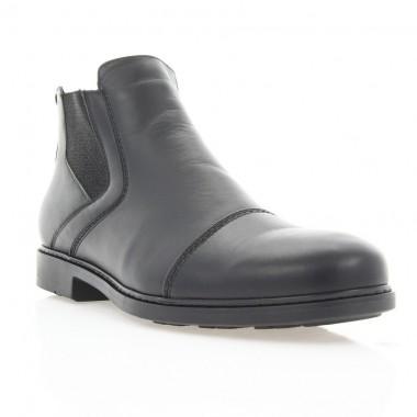Купить Ботинки мужские черные, кожа (1883 чн. Шк (шерсть)) Roma style по лучшим ценам