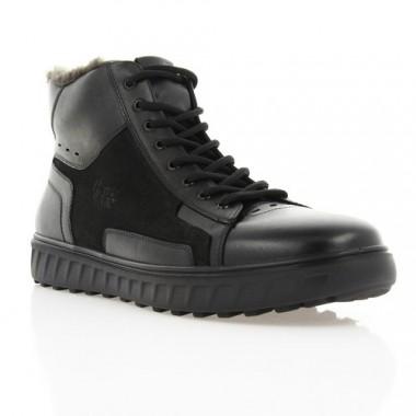 Купить Ботинки мужские черные, кожа/замша (1884 чн. Шк+Зш (шерсть)) Roma style по лучшим ценам