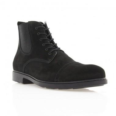 Ботинки мужские черные, кожа (1885 чн. Шк (шерсть)) Roma style