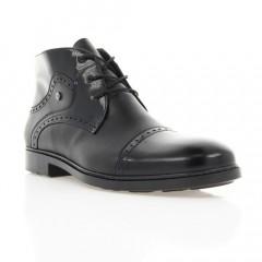 Ботинки мужские черные, кожа (1888 чн. Шк+Флор (шерсть)) Roma style