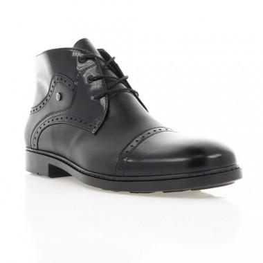 Купить Ботинки мужские черные, кожа (1888 чн. Шк+Флор (шерсть)) Roma style по лучшим ценам