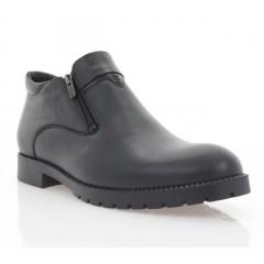 Ботинки мужские черные, кожа (1889-20 чн.Шк (шерсть)) Roma style