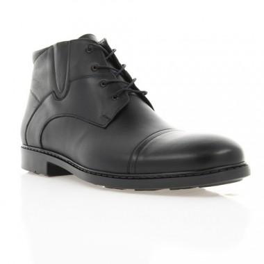 Купить Ботинки мужские черные, кожа (1891 чн. Шк (шерсть)) Roma style по лучшим ценам