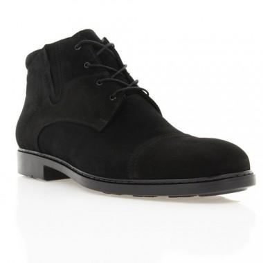 Ботинки мужские черные, замша (1891 чн. Зш (шерсть)) Roma style