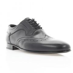 Туфли мужские черные, кожа (1904 чн. Шк) Roma style