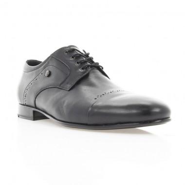 Туфли мужские черные, кожа (1907 чн. Шк) Roma style