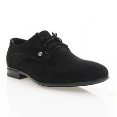 Туфли мужские черные, велюр (1909 чн. Вл) Roma style