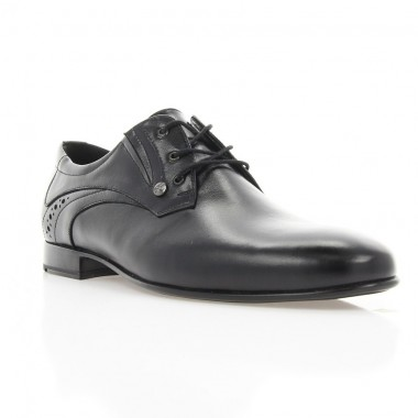 Туфли мужские черные, кожа (1909 чн. Шк) Roma style