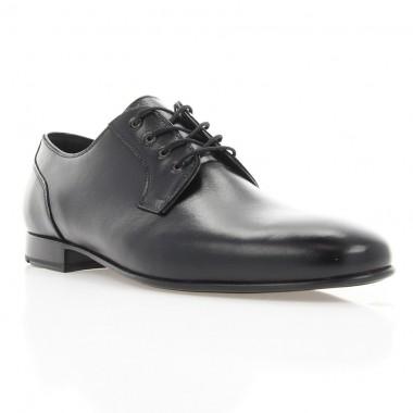 Туфли мужские черные, кожа (1910/1 чн. Шк) Roma style