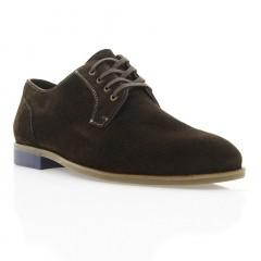 Туфли мужские коричневые, замша (1910/1 кор. Зш) Roma style