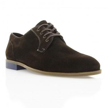 Туфлі чоловічі коричневі, замш (1910/1 кор. Зш) Roma style