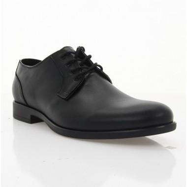 Туфли мужские черные, кожа (1910 чн. Шк) Roma style
