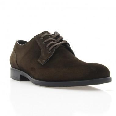 Туфлі чоловічі коричневі, замш (1910 кор. Зш) Roma style