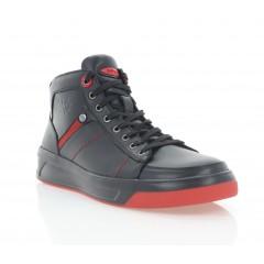 Ботинки мужские черные/красные, кожа (1917-20 чн. Шк_черв (шер)) Roma style