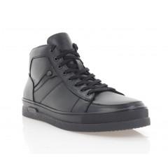 Ботинки мужские черные, кожа (1917 чн. Шк (шерсть)) Roma style