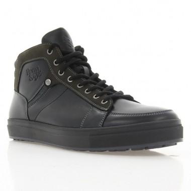 Купить Ботинки мужские черные, кожа (1917 чн. Шк (шерсть)) Roma style по лучшим ценам
