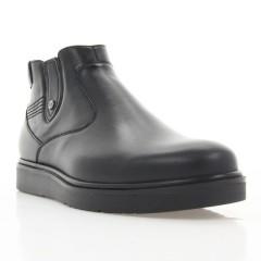 Ботинки мужские черные, кожа (1919 чн. Шк (шерсть)) Roma style