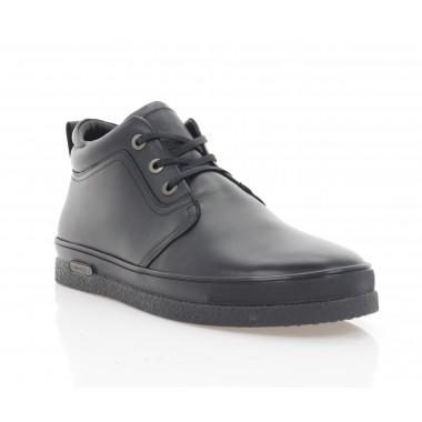 Ботинки мужские черные, кожа (1921-21 чн. Шк (шерсть)) Roma style