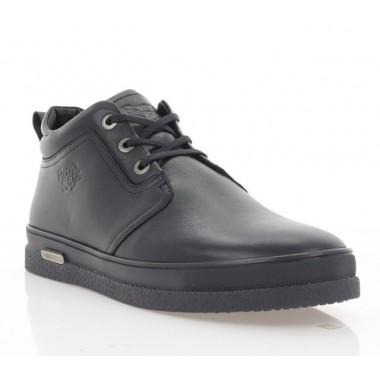 Купить Ботинки мужские черные, кожа (1921 чн. Шк (шерсть)) Roma style по лучшим ценам