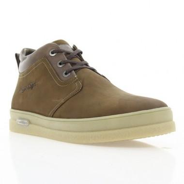 Ботинки мужские коричневые, нубук (1921 кор. Нб (шерсть)) Roma style
