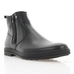 Ботинки мужские черные, кожа (1922 чн. Шк (шерсть)) Roma style