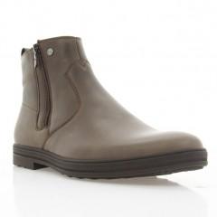 Ботинки мужские коричневые, кожа (1922 кор. Шк (шерсть)) Roma style