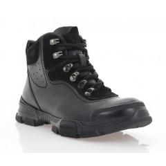 Ботинки подростковые черные, кожа (1924П-20 чн. Фл (шер)) Roma style