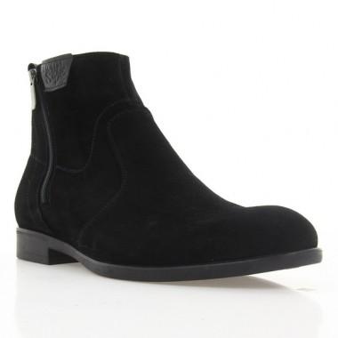 Ботинки мужские черные, замша (1927 чн. Зш (шерсть)) Roma style