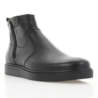 Ботинки мужские черные, кожа (1927 чн. Шк (шерсть)) Roma style