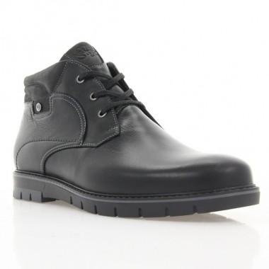 Ботинки мужские черные, кожа (1930 чн. Шк (шерсть)) Roma style