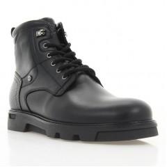 Ботинки мужские черные, кожа (1931 чн. Шк (шерсть)) Roma style
