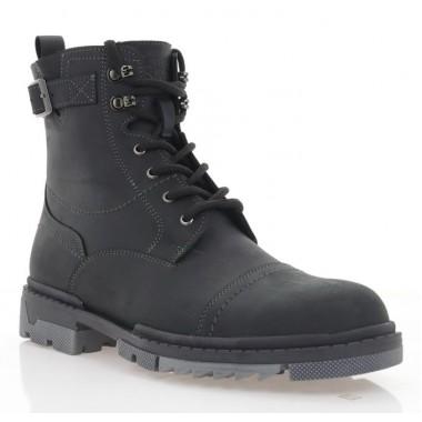 Ботинки мужские черные, кожа (1933-20 чн. Шк (шер)) Roma style