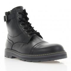 Ботинки мужские черные, кожа (1933 чн. Шк (шерсть)) Roma style