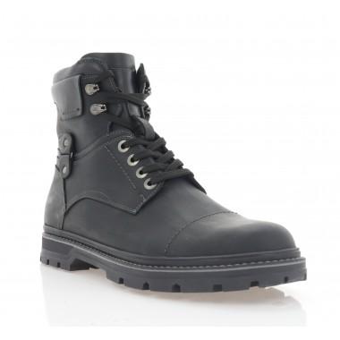 Ботинки мужские черные, кожа (1934-21 чн. Крейз (шер)) Roma style