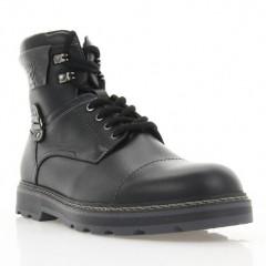 Ботинки мужские черные, кожа (1934 чн. Шк (шерсть)) Roma style