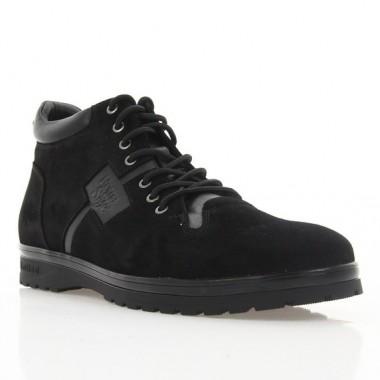 Ботинки мужские черные, замша (1935 чн. Зш (шерсть)) Roma style