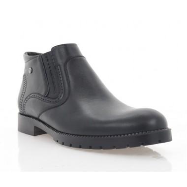 Ботинки мужские черные, кожа (1936-20 чн. Шк (шер)) Roma style