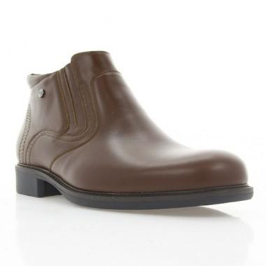 Ботинки мужские коричневые, кожа (1936 кор. Шк (шерсть)) Roma style