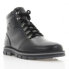 Ботинки мужские черные, кожа (1937 чн. Фл (шерсть)) Roma style
