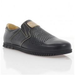 Туфли мужские черные, кожа (1960 D чн. Шк_беж) Roma style