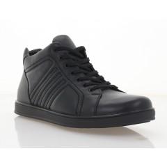 Ботинки мужские черные, кожа (1862-21 чн. Шк (байка)) Roma style